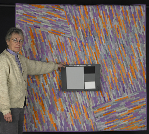 "Quilt: ""Luminosity:Gray, Peach, Lavender"""